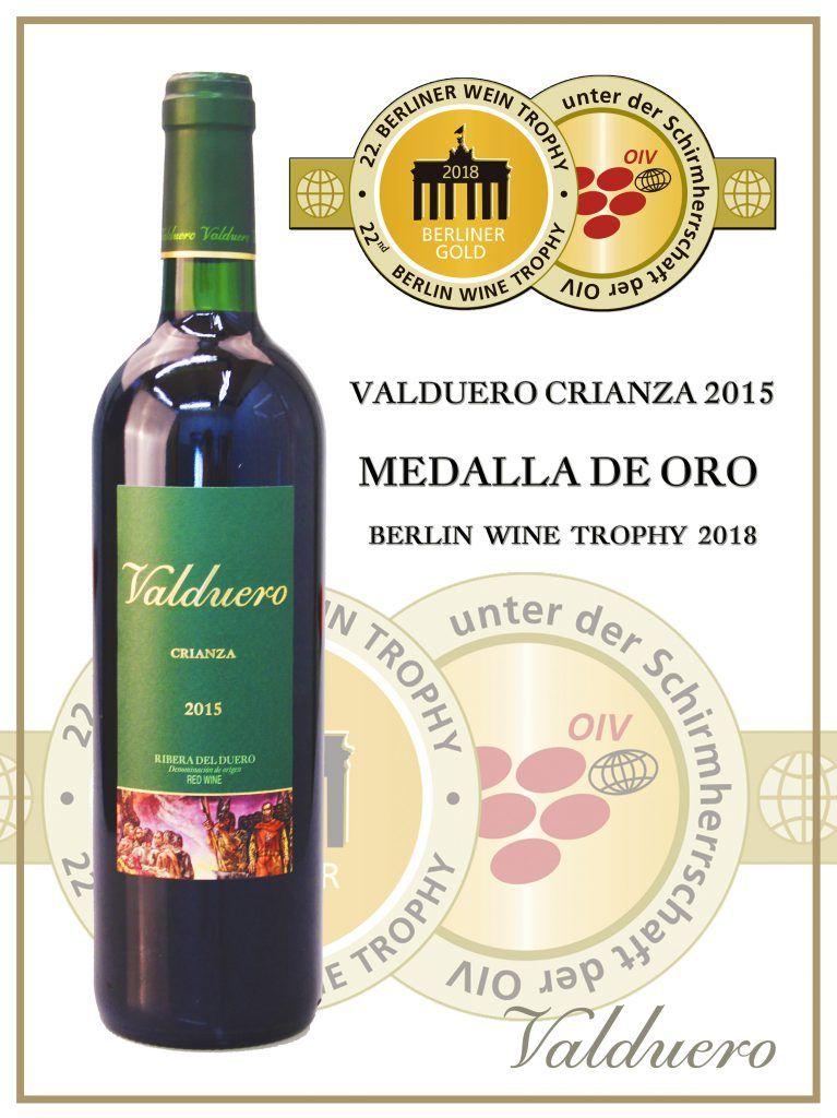 Premios del Valduero crianza 2015, vinos de la Ribera del Duero, añadas especiales
