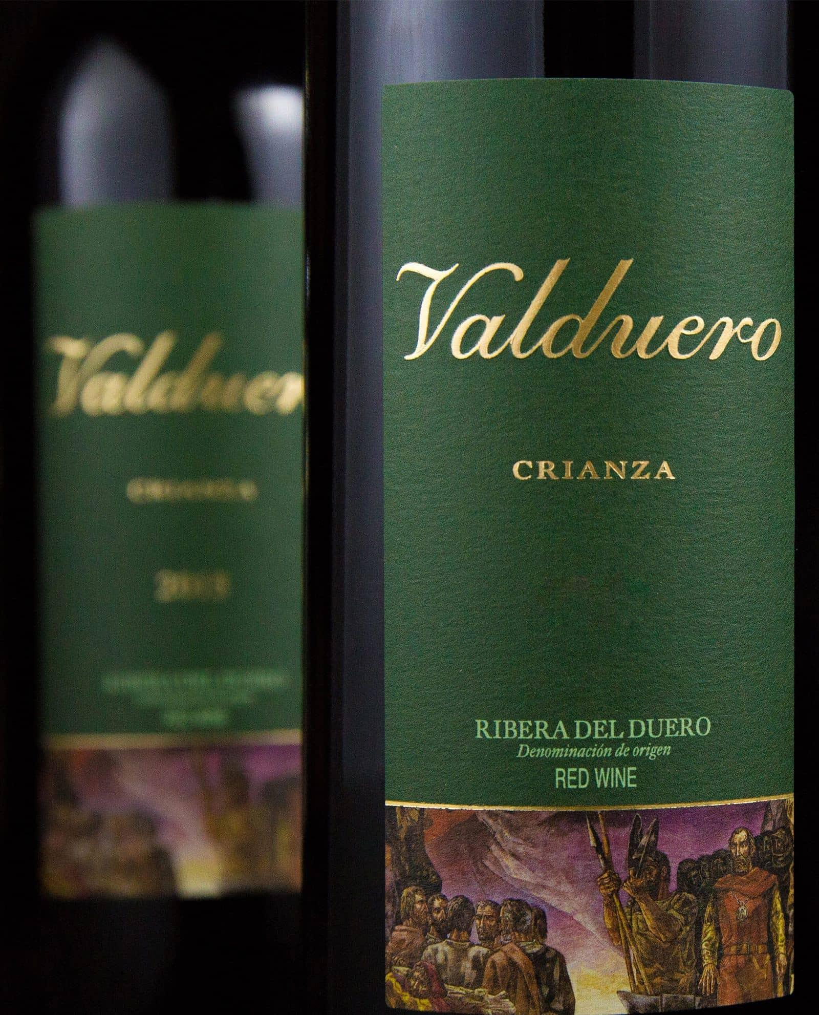 Detalle de la etiqueta de Valduero Crianza, vino tinto, RIbera de Duero