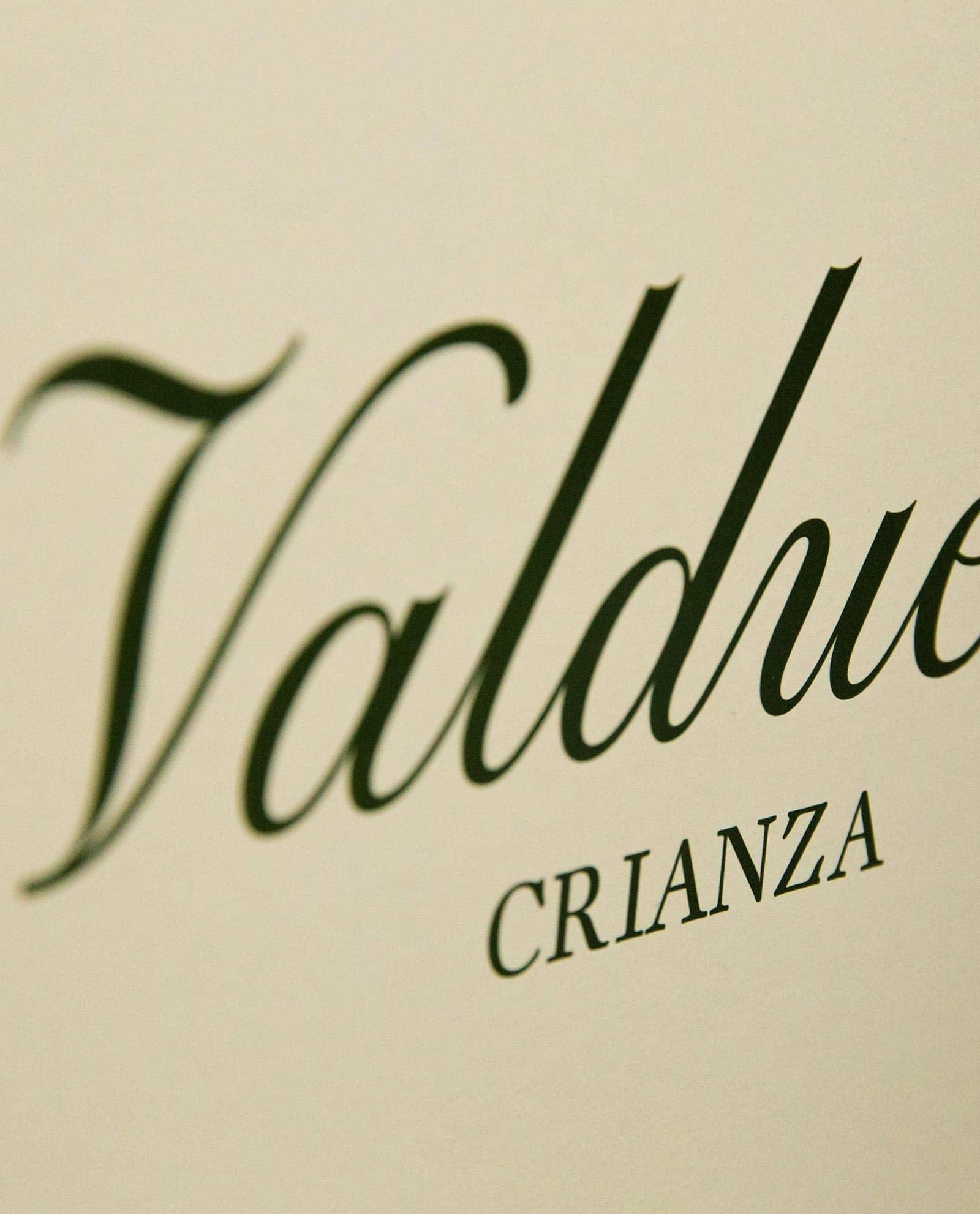 Detalle caja de 6 botellas de Valduero Crianza