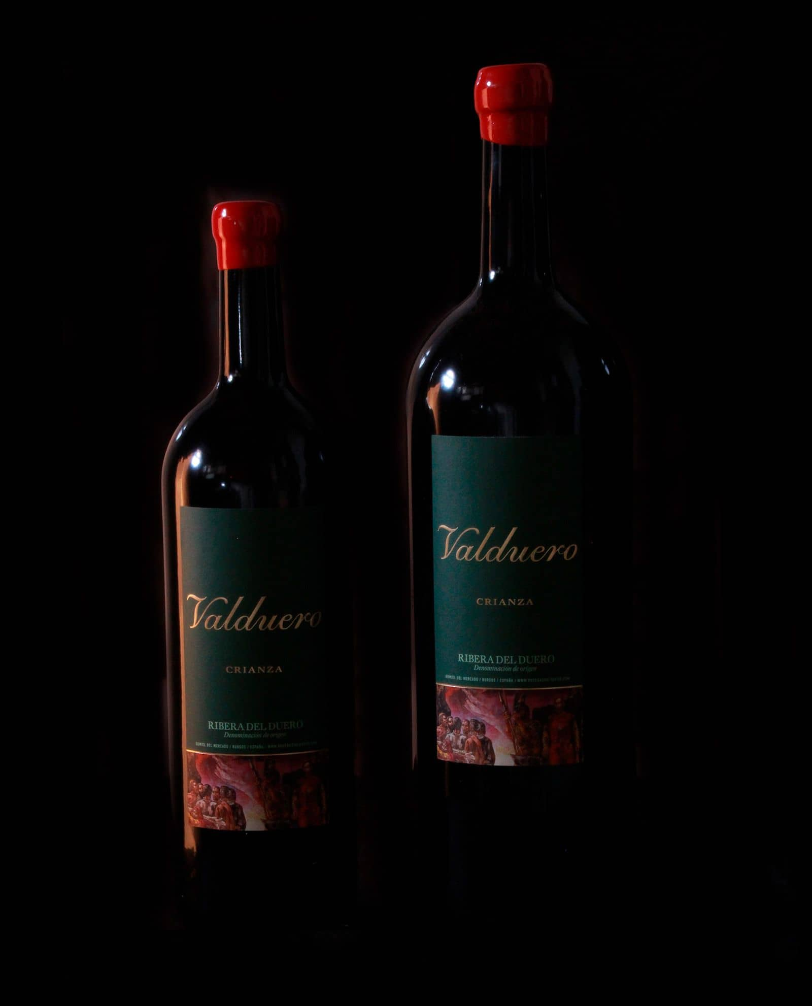 Tamaño botellas vino Valduero Crianza, Vino Ribera del Duero, VIno tinto