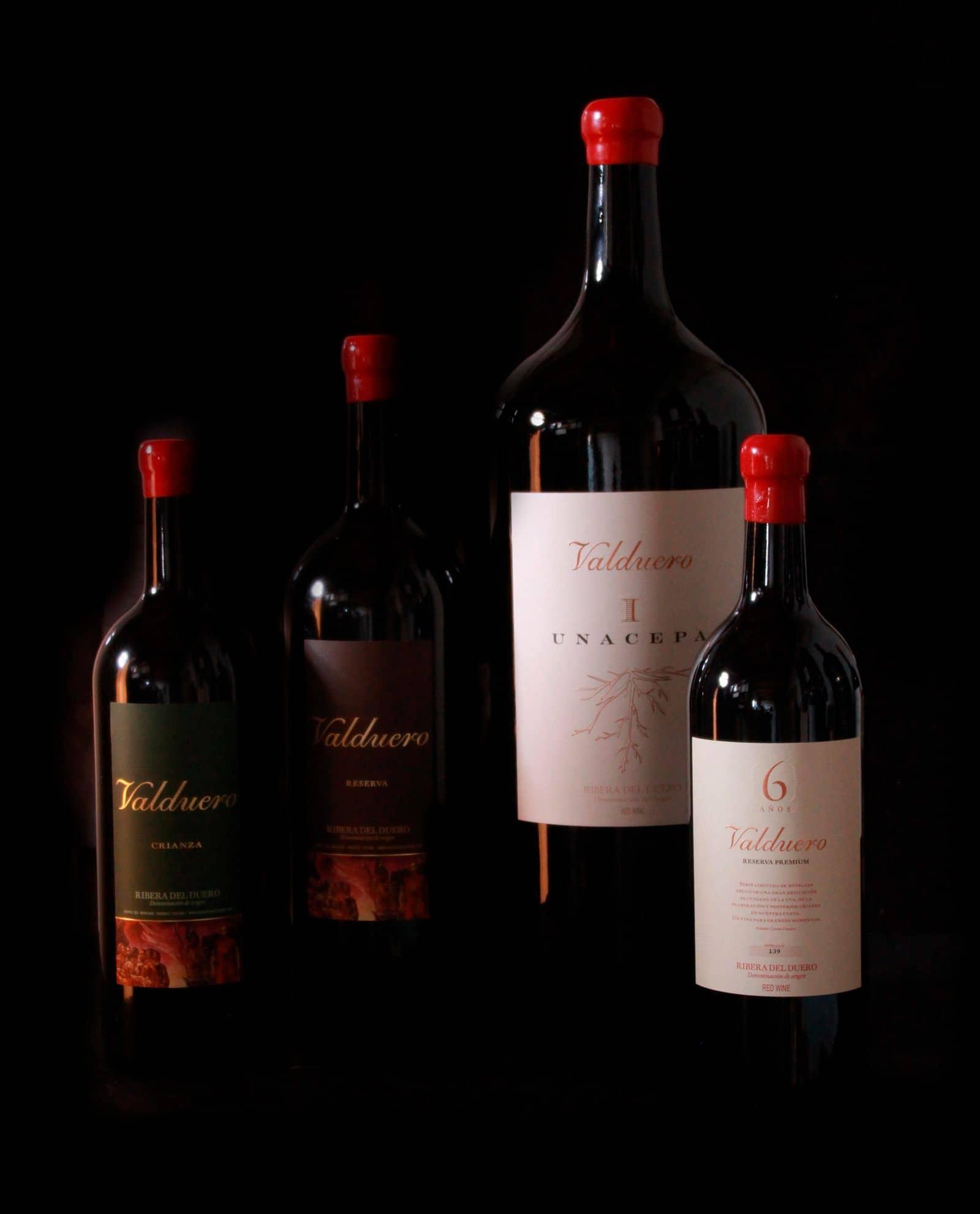 Tamaño de las botellas de vino Bodegas Valduero