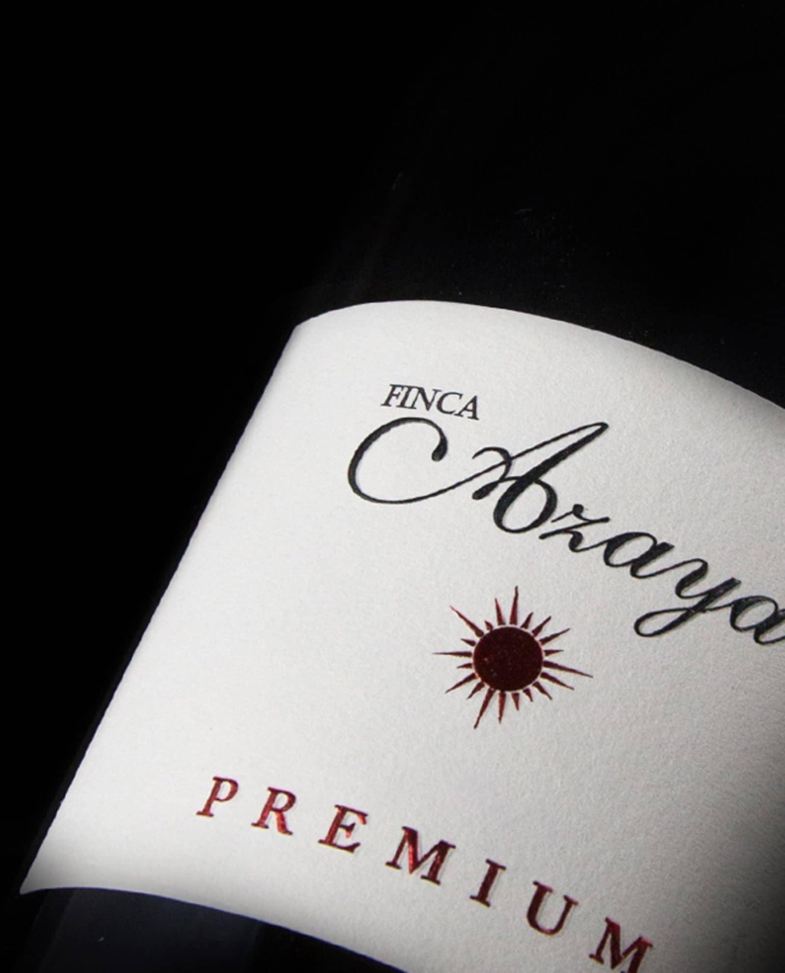 Detalle de la Botella de Finca Azaya, Bodegas Valduero