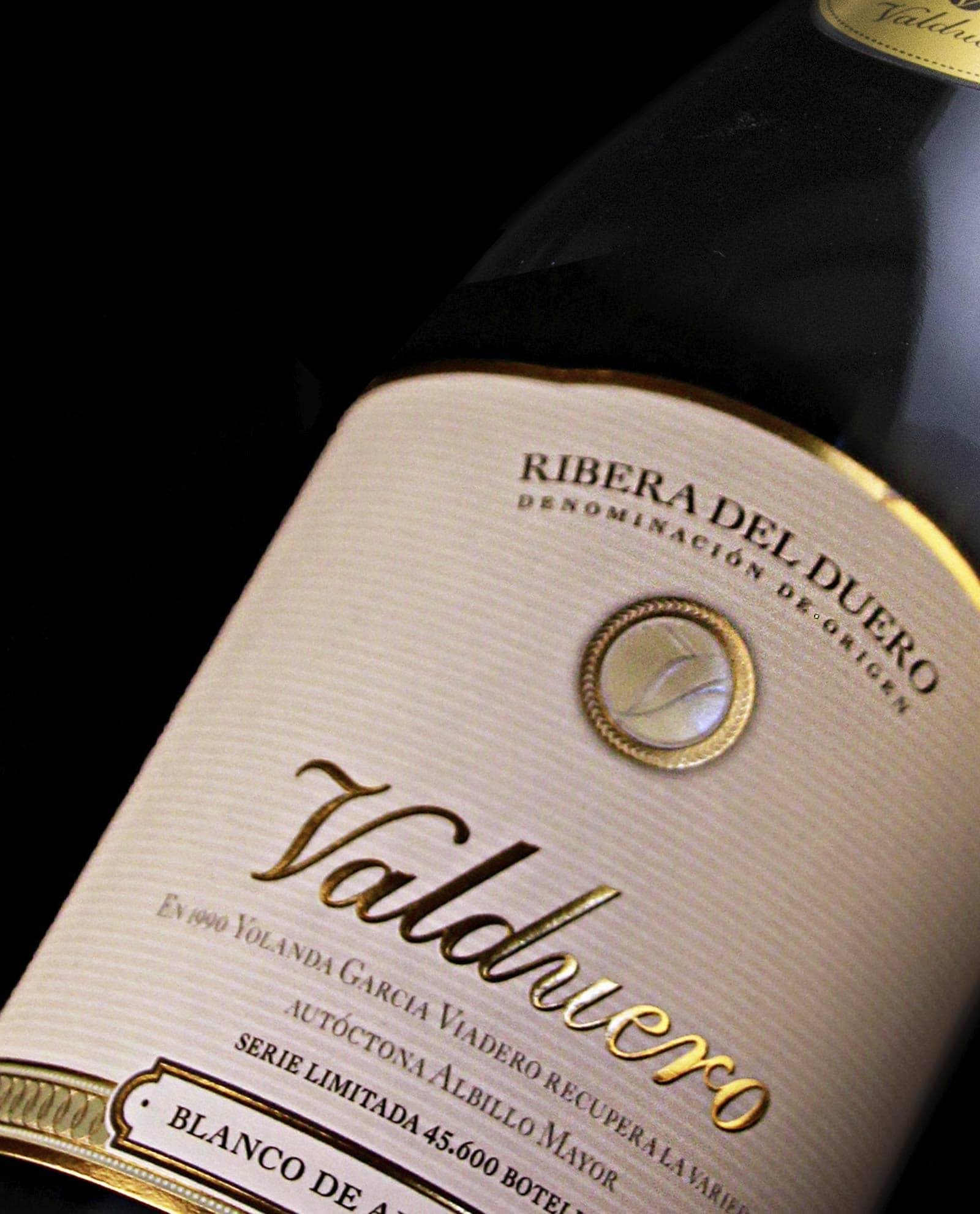 Detalle de la etiqueta de Valduero Blanco