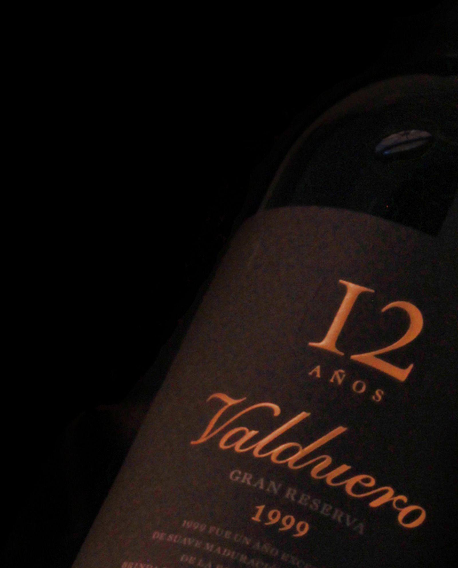detalle de Valduero 12 años, vino lujo ribera del duero