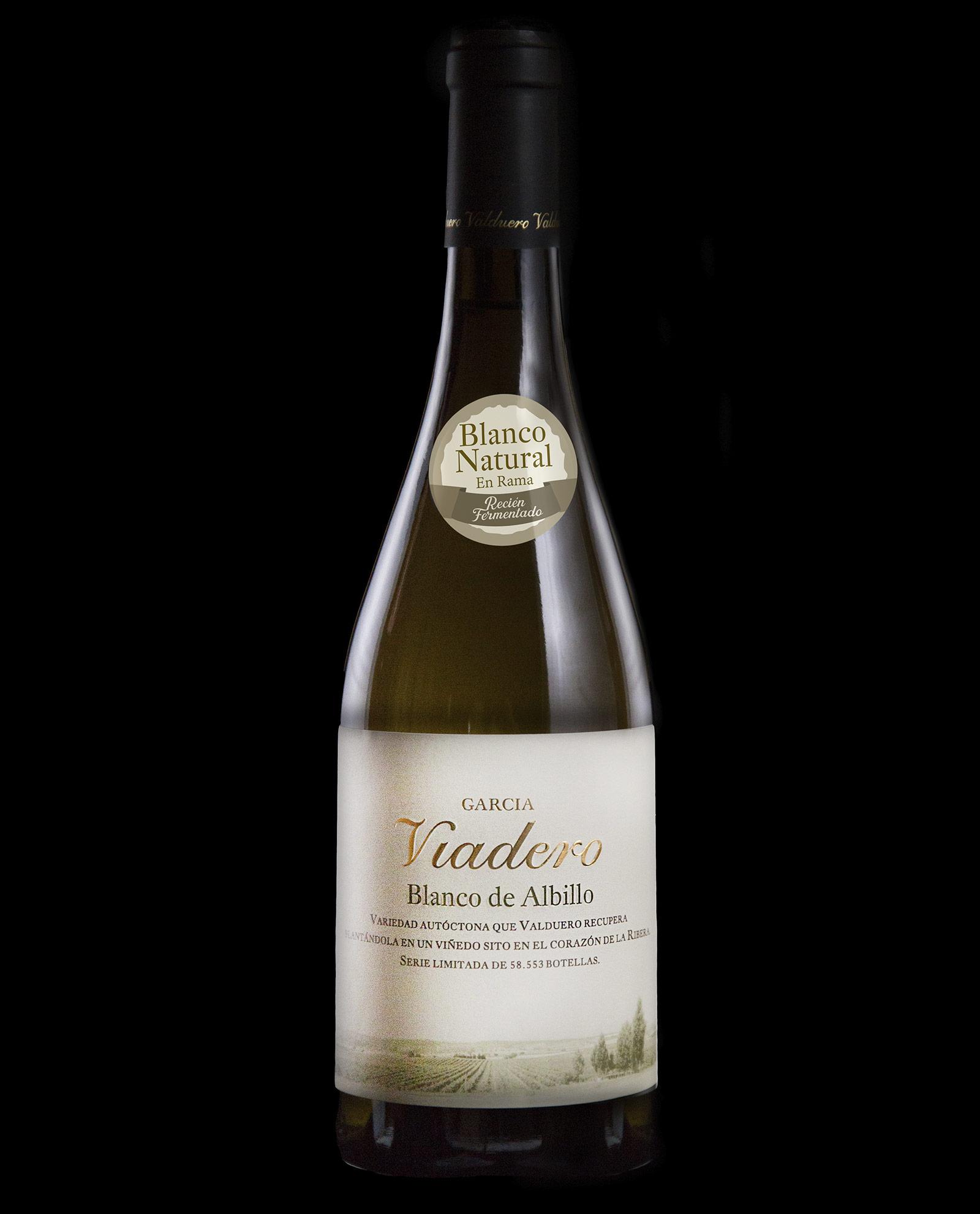 Botella de vIno blanco García Viadero